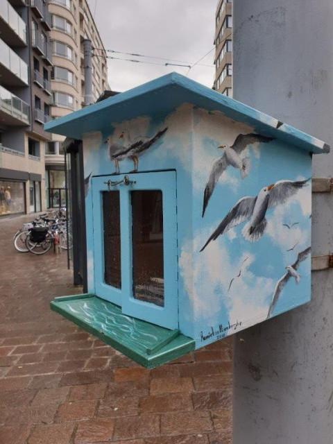Boekenruilhuisje in Oostende