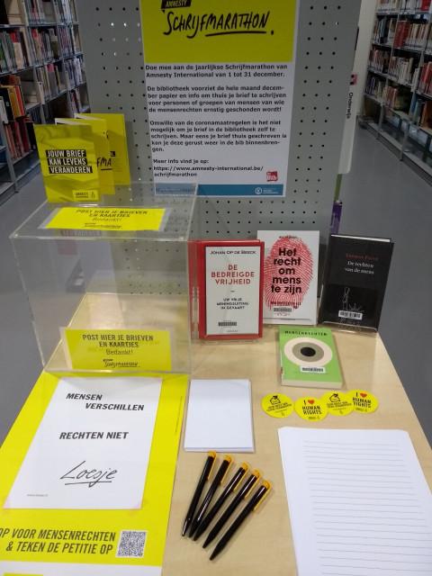 Schrijf een brief aan mensen in nood