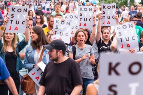 Demonstratie in Polen